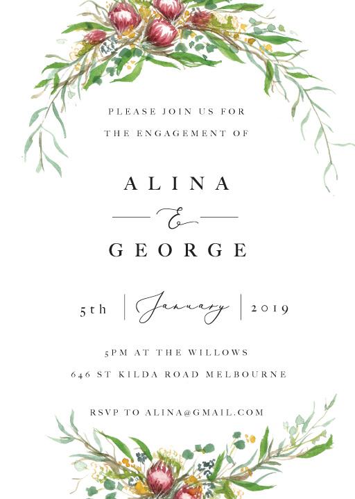 Sarulean - Engagement Invitations