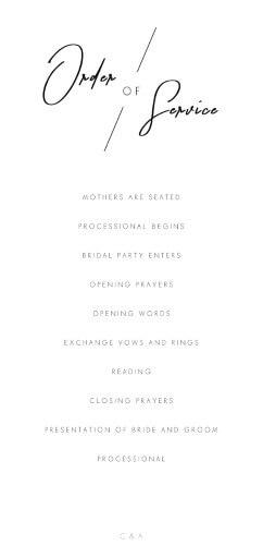 Modern Mode - Wedding Programs