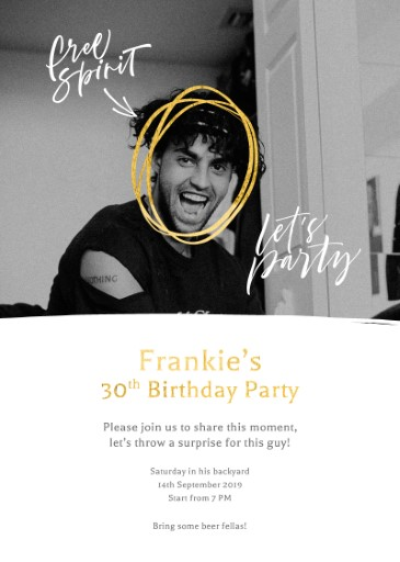 Surprise Shindig - birthday invitations