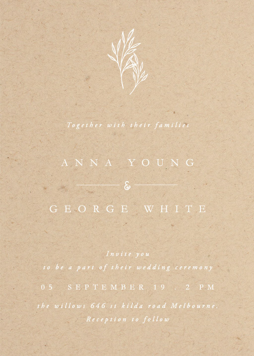 Luna - wedding invitations