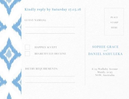 Subtle Blue Ikat - RSVP