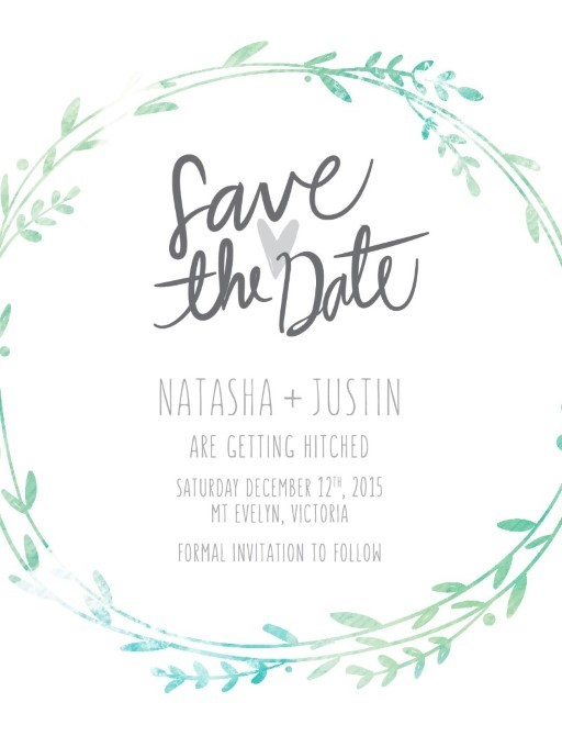 Leaf Wreath - Save The Date