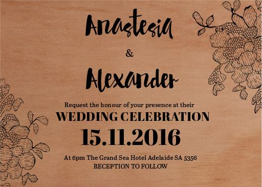Flowers in the Wood - Invitations