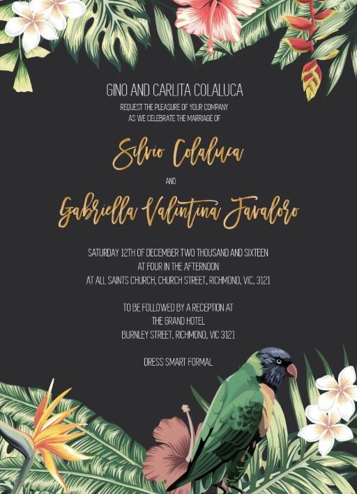 The Tropics - Invitations