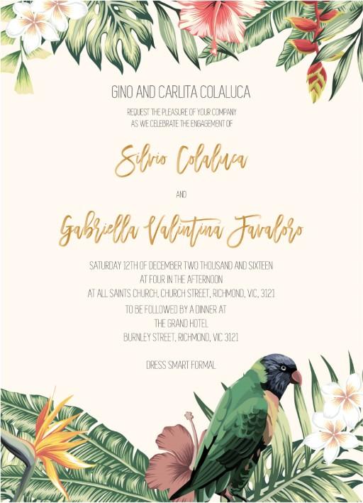 The Tropics - Engagement Invitations