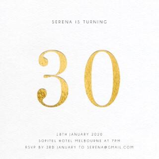 Numero - Birthday Invitations