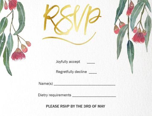 Golden Native - RSVP Cards