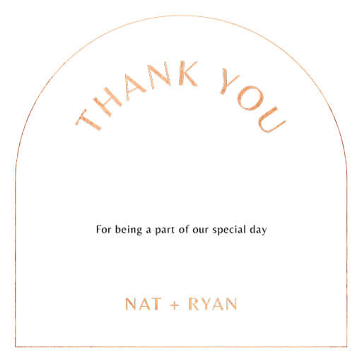 Rose Foil Arch - Thank You Cards