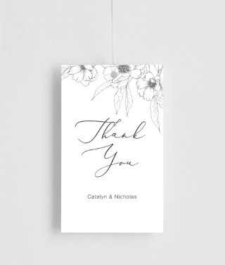 Graphite Blooms - gift tags