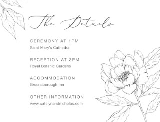 Graphite Blooms - Information Cards