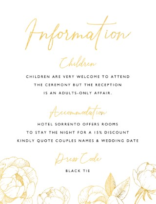 Peony Bloom - Information Cards