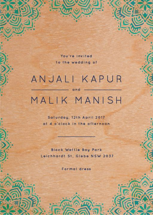 Namaste - Invitations