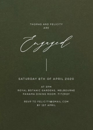 Verde - Engagement Invitations