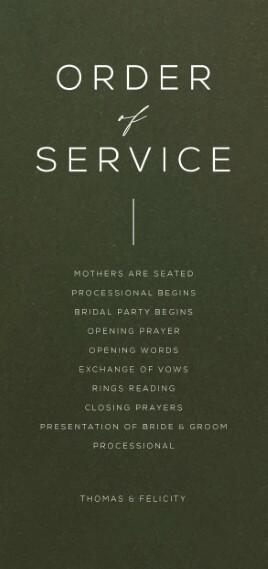 Verde - Order of Service