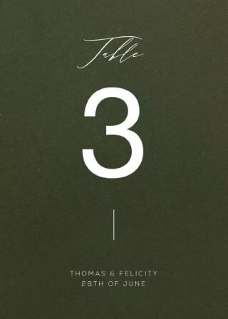 Verde - Table Numbers
