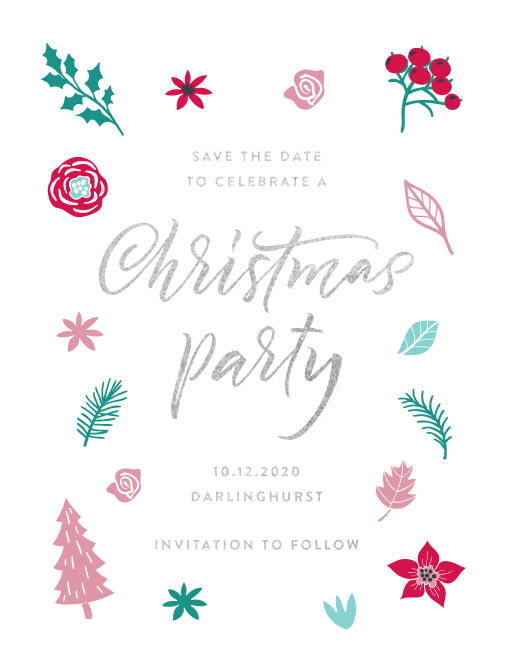 Christmas Save The Date Graphics.Merry Little Christmas Raised Foil Save The Date Paperlust