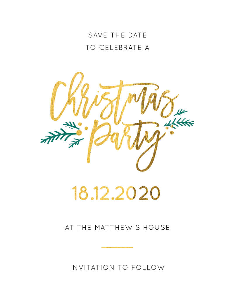Christmas Save The Date Graphics.Festive Christmas Party Save The Date