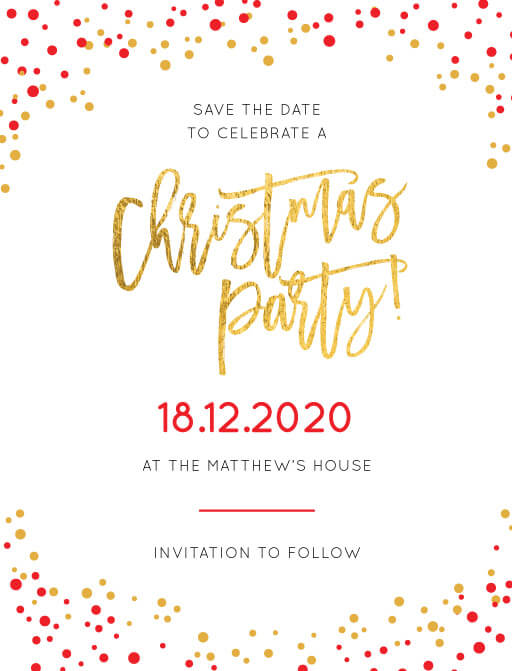 Festive Christmas Party - Save The Date
