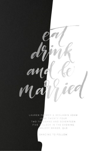 Become One - wedding invitations