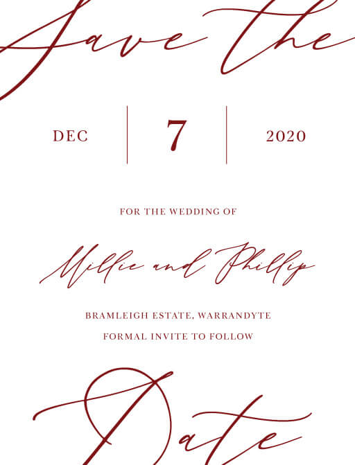Save The Date Cards By Paper Customise And Print Online