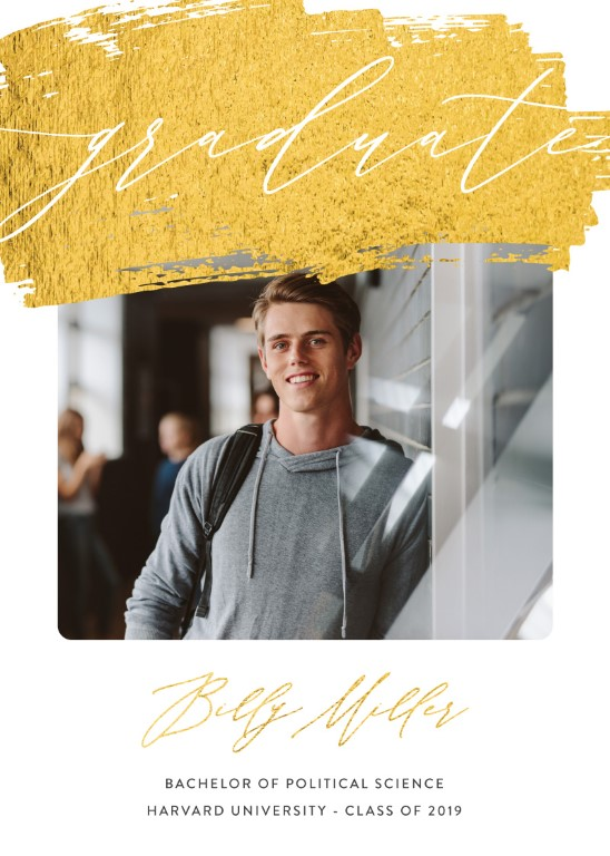 Golden Sweep - Graduation Invitations & Announcements