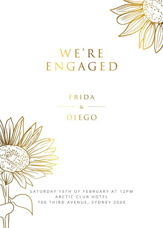 Engagement Party Invitations I Customise And Print Online
