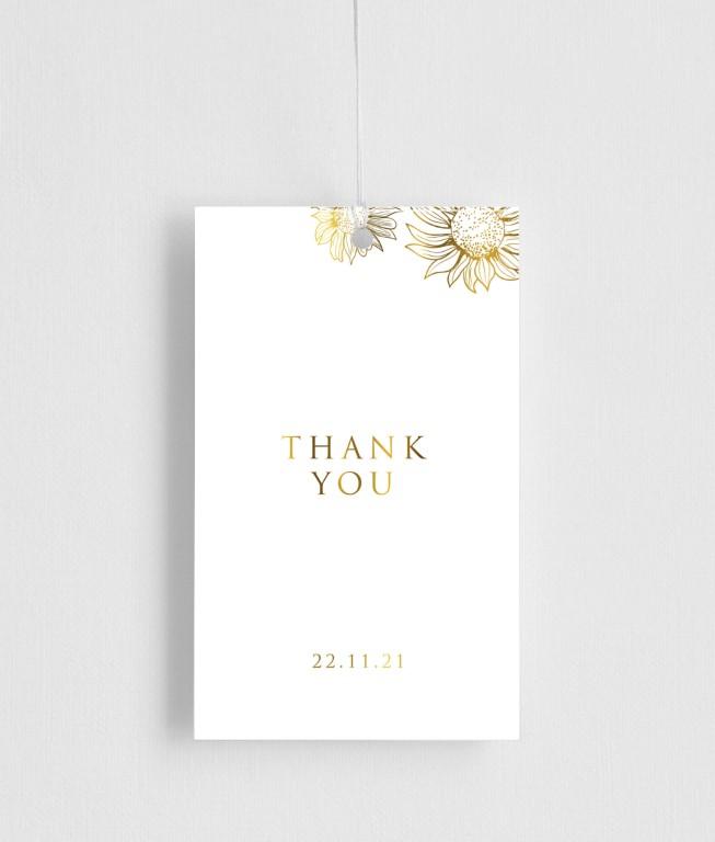 Golden Sunflower - gift tags