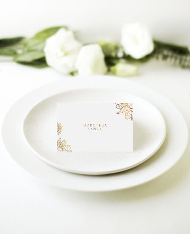 Golden Sunflower - Place Cards