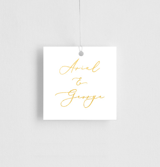 Golden Butterfly - gift tags