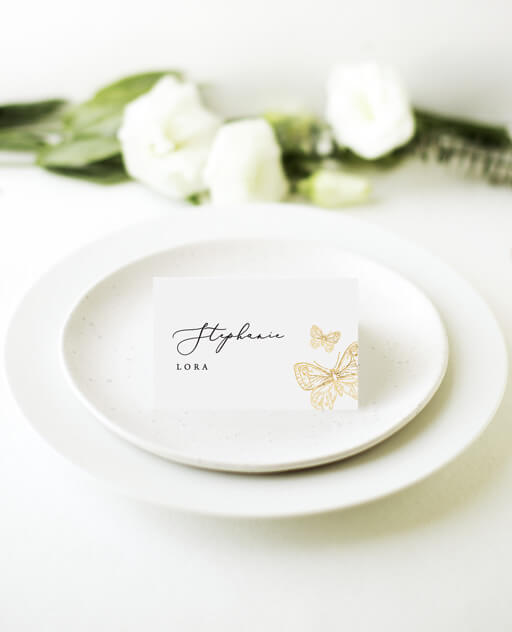 Golden Butterfly - Place Cards