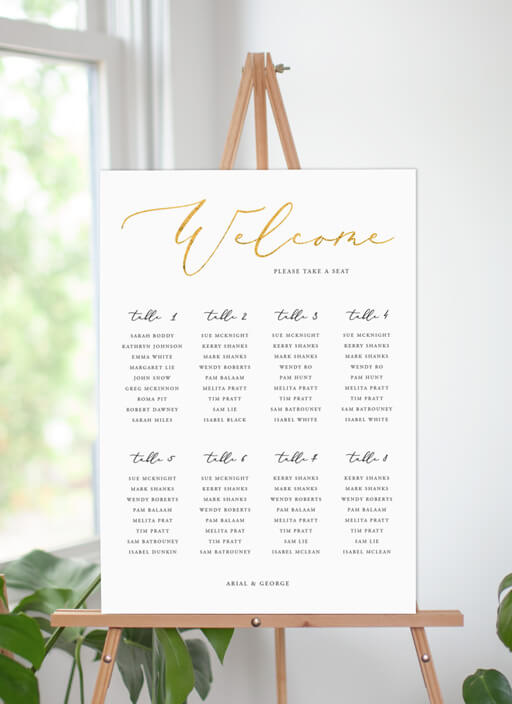 Golden Butterfly - seating charts