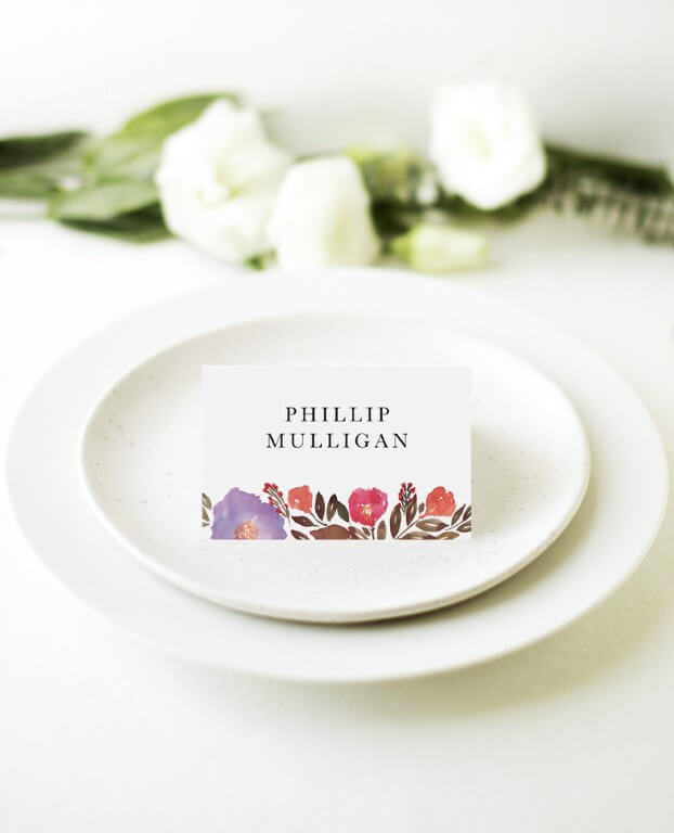 Violet Fall - Place Cards
