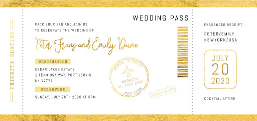 First Class - Wedding Invitations