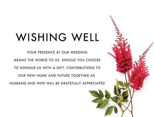 Blooming Red - Wishing Well