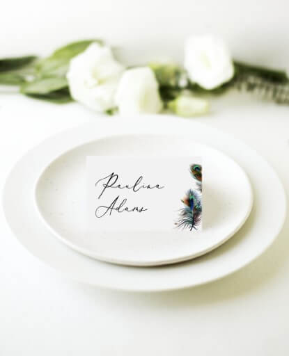 Peacock Blue - Place Cards