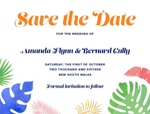 At the seaside - Save The Date