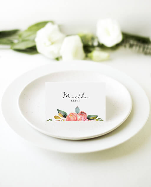 Spring Bouquet - Place Cards