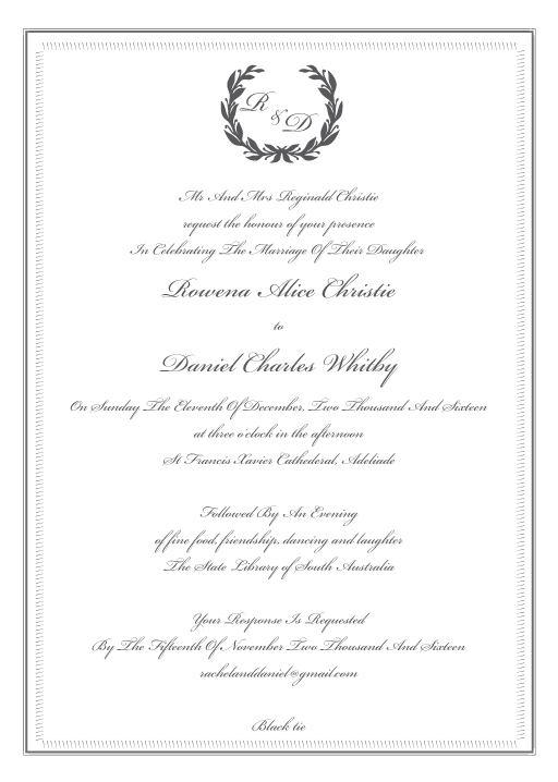 Regal Wreath - Invitations