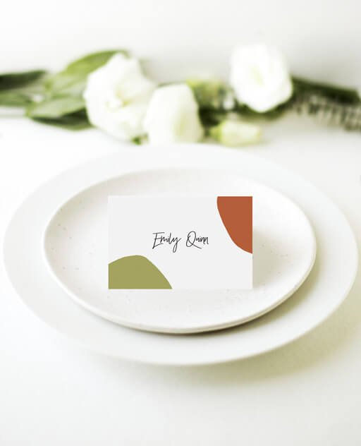 Tropical Camo - Place Cards