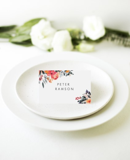 Floral Crown Georgia - Place Cards