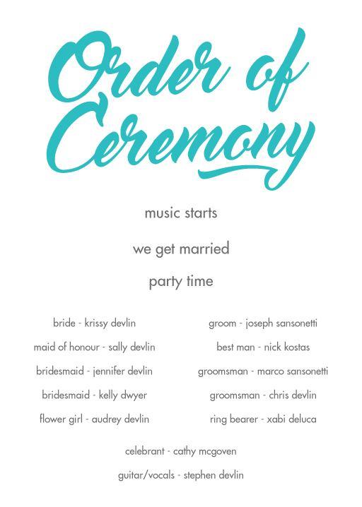 Modern Script - Wedding Programs