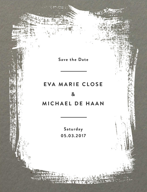 White Paint - Save The Date