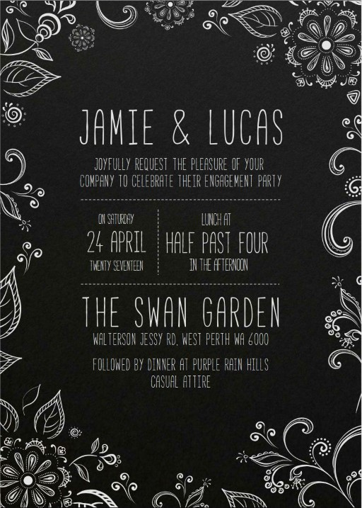 Der Garten - engagement invitations