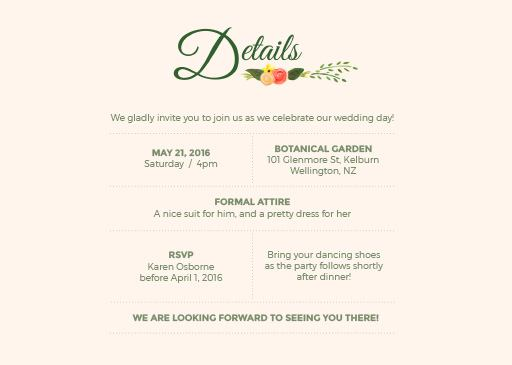 Rustic florals - Invitations