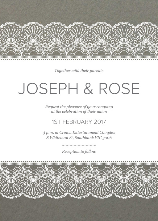 White Lace - Invitations