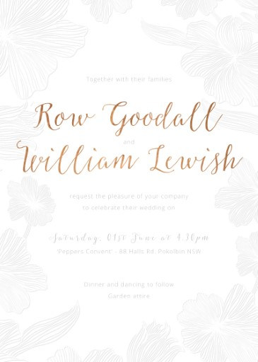 Floral Impressions - Invitations