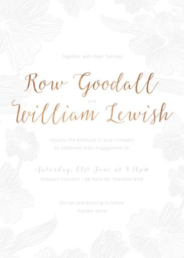 Floral Impressions - engagement invitations