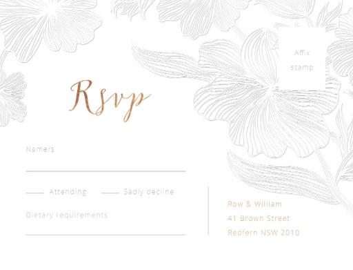 Floral Impressions - RSVP Cards