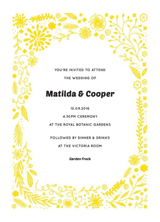 Garden Party - Invitations