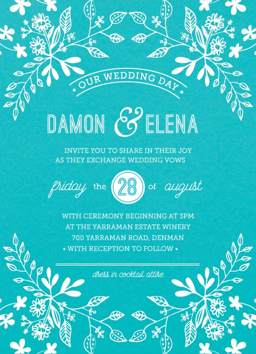 Nz wedding invitations designs by creatives printed by paperlust rustic floral sketch invitations stopboris Gallery